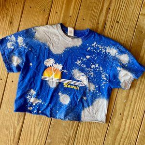 custom made cropped Hawaii bleach tee